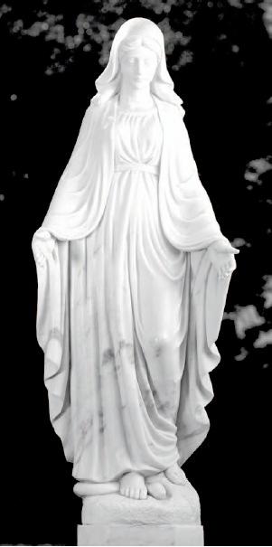 segnende maria weisser marmor echter marmor f r den grabstein. Black Bedroom Furniture Sets. Home Design Ideas